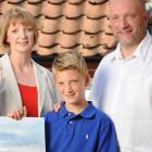 Киерон Уильямсон с Родителями Мишель и Кейт